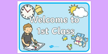 Welcome to 1st Class Display Poster-Irish