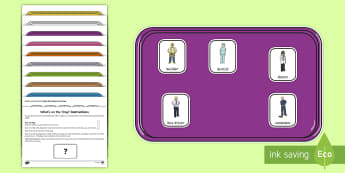 Who's on the Tray? People Who Help Us Memory Activity Pack - vet, teacher, lollipop, road worker, police officer, lunchtime supervisor, nurse, doctor, taxi drive