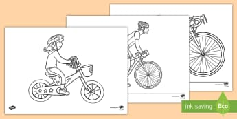 Bike Week Colouring Pages - CfE Bike Week (10th-18th June), colouring, motor skills, bike, biking, rider, cycling, cycle, bike w