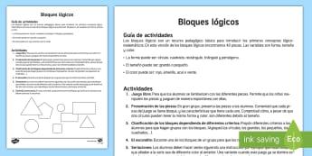 Guía para usar los bloques lógicos Material de matemáticas manipulativo - bloques, lógicos, logicos, dienes, material, manipulativo, matemáticas, mates, pensamiento, lógic - bloques, lógicos, logicos, dienes, material, manipulativo, matemáticas, mate