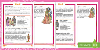 KS1 Diwali Differentiated Fact File