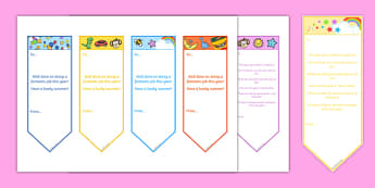 EYFS End of Year Editable Bookmarks