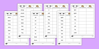 Dolch Writing Practice Worksheets - usa, america, dolch, practice, worksheets