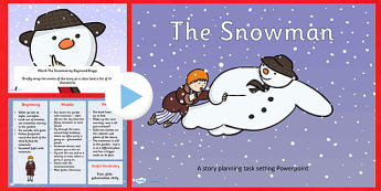 Differentiated Lesson Teaching PowerPoint to Support Teaching on The Snowman - snowman, christmas, task setter, xmas