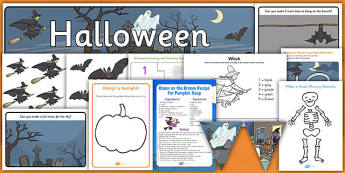 Halloween Themed Resource Activity Pack for Childminders - childminder, halloween