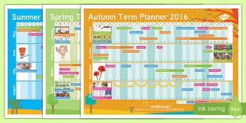 2016-2017 Academic Year A3 Calendar Planner - 2016, 2017, academic, year, calendar, planner