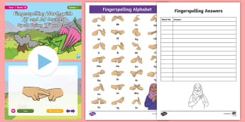 Fingerspelling Words with /f/ and /s/ Sounds Spelt Using 'ff' and 'ss' PowerPoint Pack - bsl, fingerspelling practise, fingerspelling practice, bsl practise, bsl practice, receptive skills