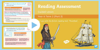 Year 6 Reading Assessment Fiction Term 2 Guided Lesson PowerPoint - Reading Assessment PowerPoints, SATs, fiction, test practise, moonfleet, guided reading, reading tes