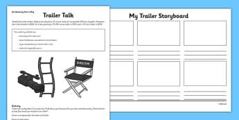 Anders Weberg Longest Film Trailer Amazing Fact Activity Sheet - film, storyboard, worksheet