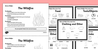 Wildfire Discussion Activity - Alberta, wildfire, fire, natural disaster, communication, speaking, discussion