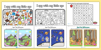 Visual Perception Resource Pack - visual, perception, pack, sheet