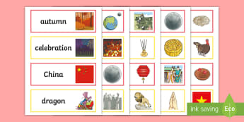 Moon Festival Word Cards - moon festival, moon, full moon, harvest, mid-autumn festival, word cards, vocab, vocabulary, topics,