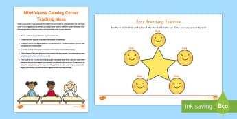 Mindfulness Calming Corner Teaching Ideas - Mindfulness in the classroom mindfulness activities, mindfulness teaching resources, meditation, bre