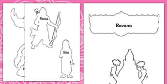 Diwali Story Shadow Puppets - roleplay, hinduism, RE, religion, diwali story for early years