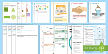 Maths: Open Evening Activities and Tasks Resource Pack - Problem Solve, investigation, parents evening, motivation, enthusiasm, engagement, open-ended, pract