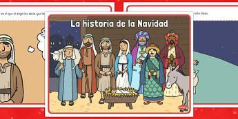 La historia de la Navidad Spanish - spanish, christmas story, christmas, story