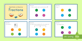 3rd Grade Numbers and Fractions Online Assessment Practice Activity - Common Core English Language Arts, Common Core ELA, Common Core