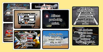 Persuasive Writing Prompt Flashcards - Persuasive, Stimulus, Topic, Writing, Prompt, Australian, NAPLAN, English