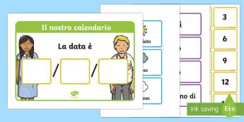 Il Meteo Giornaliera Calendario Data Compatta Attività - il, tempo, le, stagioni, calendario, italian, italiano, giorni, mesi, anni, meteo