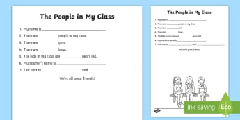 The People In My Class Activity Sheet - Grade 1 Social Studies, social studies, grade one, one, 1, grade 1, worksheet, classroom, class, pee