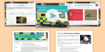 First Aid Lesson Pack - critically evaluate, values, discuss, research, present, first aid, emergency, recovery position,  r