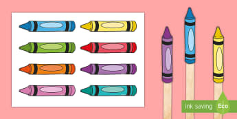 Crayon Themed Stick Puppets - Crayon Themed Stick Puppets - rayno, crayosn, crayons, stick, sticks, puppets, pitpet, pupet, puppet