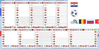 Euro 2016 Page Borders - euro 2016, football, euro, 2016, page borders