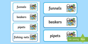 Water Area Tray Name Labels - Water Area Tray Name Labels - water area, watre, name, labls, label, organiser, organizer,tary, tray