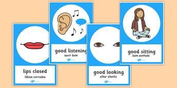 Good Listening Posters Portuguese Translation - portuguese, good listening, posters, good, listening
