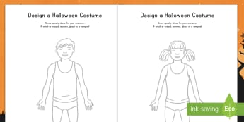 Design a Halloween Costume Activity Sheets - Halloween, costume, design, activity sheets, worksheets