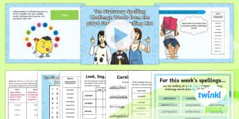 PlanIt Y6 Term 2A W6: Statutory Spelling Challenge Words Spelling Pack - Spellings Year 6, Y6, spelling, SPaG, GPS, statutory, list, NC 2014, Y5/Y6 statutory spellings, week