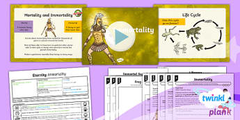 PlanIt - Eternity Y6 - Eternity Lesson 2: Immortality Lesson Pack - mortality, immortality, human, living things, life cycle, birth, life, death