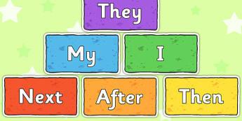 Sentence Starters on Multicoloured Bricks - sentence, starters, multicoloured
