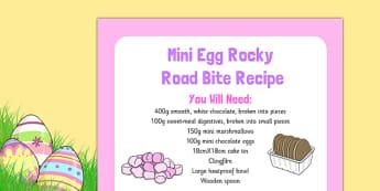 Mini Egg Rocky Road Bite Recipe - Easter, cooking, recipe, mini egg, rocky road bite