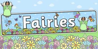 Fairies Display Banner - traditional tales, header, display
