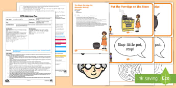 EYFS The Magic Porridge Pot Movement Activity Adult Input Plan and Resource Pack - gross motor skills, Traditional Tales, Early years Planning, EYFS, Adult Led, Movement, Physical Dev