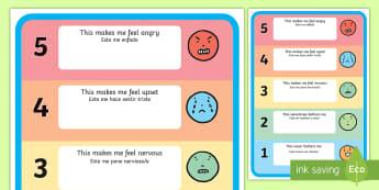 Feelings Trigger Poster English/Spanish - feelings, trigger, chart, trigger chart, feelins, fellings, EAL,