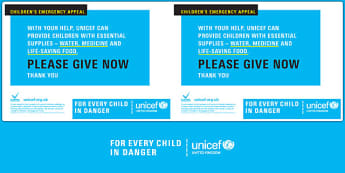 Unicef Emergency Collection Tin Label - unicef, collection, label