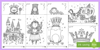 Adult Colouring Mindfulness Fairy Tale Sheets - Mindfulness Colouring, colouring, fairytales, traditional tales, fairy tales, adult, adult mindfulness, adult colouring