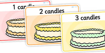 Cake Basic Playdough Mats - cake playdough mats, cake candles playdough mats, counting playdough mats, simple playdough mats, numbers, sen playdough mats