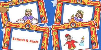 Punch and Judy Story Sequencing - stories, puppet, reading, story
