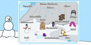 Winterlandschaft Wortschatz: Karten