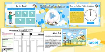 PlanIt Y2 Amelia Earhart Lesson Pack Instructions (2) - explorers, adventure, Amelia Earhart, instructions, model aeroplane
