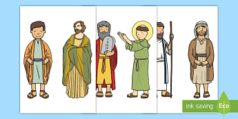 Bible Characters Cut-Outs - Bible Characters Cut-Outs - Noah's ark, role play, RE, rol eplay, bible story, stories, religion, R