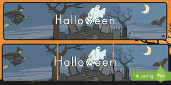 Halloween Display Banner - Halloween, banner, display, decor