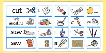 D&T Topic Word Cards - Creative Area, Design Area, Design and technology, art and design, word card, word cards