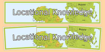Locational Knowledge Display Banner - locational knowledge, display banner, display, banner