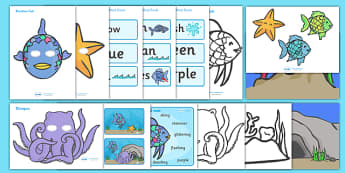 Story Sack Resource Pack to Support Teaching on The Rainbow Fish - story sack, story books, story book sack, stories, story telling, childrens story books, traditional tales