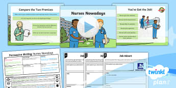 Significant Individuals: Florence Nightingale: Persuasive Writing 2 Y2 Lesson Pack - Nurses, Victorians, Crimean war, mini topic, year one history, Mary Seacole