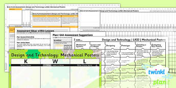 PlanIt - DT LKS2 - Mechanical Posters Unit Assessment Pack - planit, design and technology, Go Green, Eco, recycle, warrior, environment